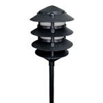 2044-BK | Evergreen Four Tier Pagoda Light - 120 volt Black | USALight.com