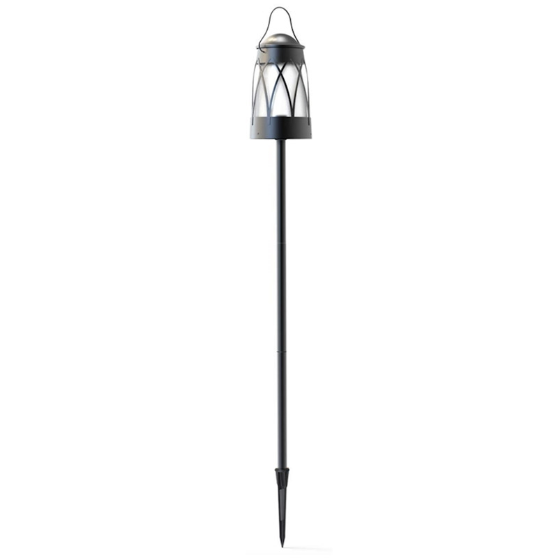 Lighting tiki torches georgetown collection outdoor black low voltage led tiki torch light lantern