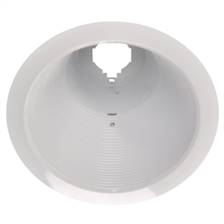 "AF637W-WH | 6"" Air Tight Ring Baffle Trim - R / PAR30 - White 