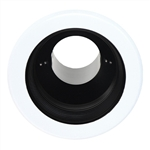 "B530P-WH | 5"" Air Tight Stepped Baffle Trim - Black/White 