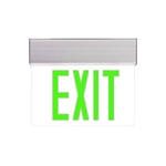 ELX-607-G-AL-1-C | LED Edge-Lit Exit Sign with Emergency Battery Back-Up with Self-Diagnostic | USALight.com