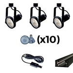 US-241-3B | Trade Show Track Lighting Kit - 3 Piece Gimbal Ring | USALight.com