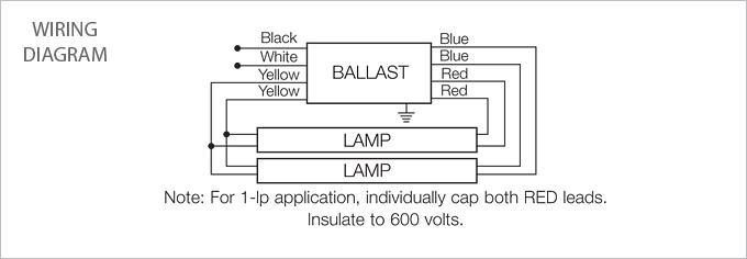 Mc b 2 lamp 4 t8 fluorescent program start ballast usalight com
