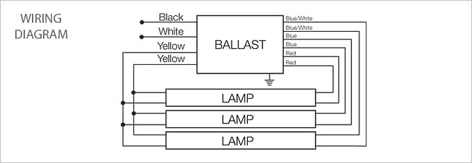 Mc b 3 lamp 4 t8 fluorescent program start ballast usalight com