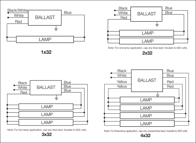 T12 To T8 Ballast Wiring Diagram 4 Wire Diagram Ballast