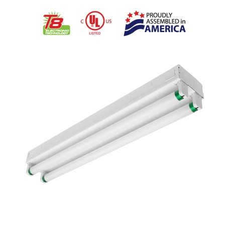 3 Foot T8 Fluorescent Strip - 2 Lamp - Surface Mount | USALight.com
