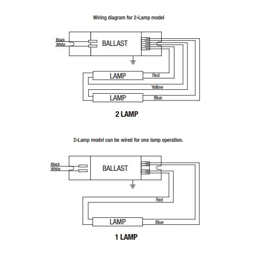 sylvania 49136 qtp2x54t5ho unv psn ht 2 lamp t5 ballast sylvania 49136 2 lamp t5 program rapid start electronic ballast