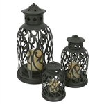 8520-4550-03 | Malibu Battery Operated Decorative Lantern (3-Piece) | USALight.com