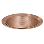 "B630BZ-BZ | 6"" Incandescent Stepped Baffle Trim R30/PAR30 