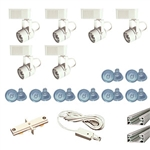 US-258-6W | Trade Show Track Lighting Kit - 6 Piece Low Voltage | USALight.com