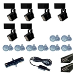 US-263-6B | Trade Show Track Lighting Kit - 6 Piece Mini Square Low Voltage | USALight.com