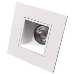 "US-LM240W-40 Dimmable | 2"" Recessed LED Square Downlight - 9 Watt - 4000K - Smooth"